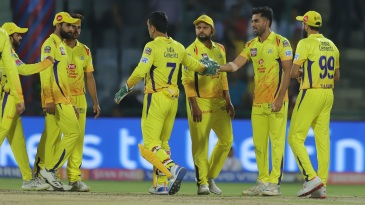 The Chennai Super Kings boys celebrate a wicket