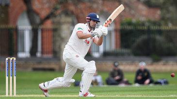 Sir Alastair Cook bats against Cambridge University