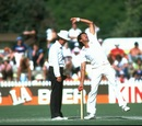 Bruce Yardley bowls during the Third Test match against England, the Ashes, Adelaide Oval, December 15, 1982, Adelaide