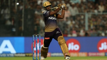 Andre Russell made the most of a schoolboy error from Kings XI Punjab