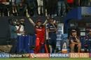 Nitin Saini is thrilled after taking a superb catch, Royal Challengers Bangalore v Mumbai Indians, IPL 2019, Bengaluru, March 28, 2019