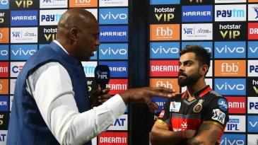 Virat Kohli was not pleased with the level of umpiring in the game