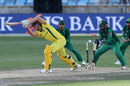 Marcus Stoinis misses a drive and is bowled, Pakistan v Australia, 4th ODI, Dubai, March 29, 2019