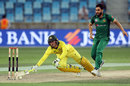 Alex Carey dives for the crease, Pakistan v Australia, 4th ODI, Dubai, March 29, 2019