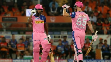 Sanju Samson and Ben Stokes added 63 runs in the last four overs