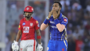 Krunal Pandya sends Chris Gayle off