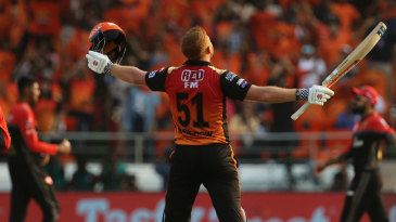 Jonny Bairstow lets it sink in after getting his maiden IPL ton