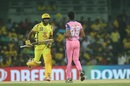Ambati Rayudu and Dhawal Kulkarni in action at the Chepauk, Chennai Super Kings v Rajasthan Royals, IPL 2019, Chennai, March 31, 2019