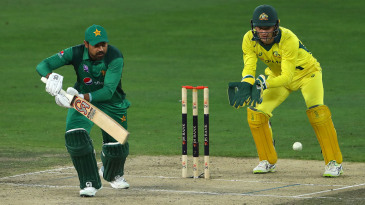 Haris Sohail put up some resistance for Pakistan against Australia in the 5th ODI