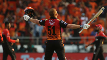Jonny Bairstow's maiden IPL hundred also rung in the highest first-wicket partnership of the tournament - 185 with David Warner