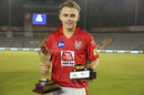 Sam Curran poses with his prizes, Kings XI Punjab v Delhi Capitals, IPL 2019, April 1, 2019