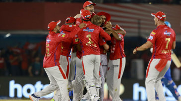 Kings XI Punjab pile on Sam Curran after an unlikely win