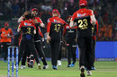 Yuzvendra Chahal's team-mates surround him after a wicket, Rajasthan Royals v Royal Challengers Bangalore, IPL 2019, Jaipur, April 2, 2019
