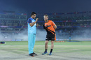 Sourav Ganguly and Kane Williamson have a chat, Delhi Capitals v Sunrisers Hyderabad, IPL 2019, Delhi, April 4, 2019