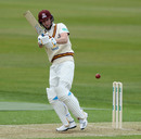 Alex Wakely pulls during a half-century, Northants v Middlesex, County Championship Division Two, Wantage Road, April 5, 2019