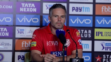 Kings XI coach Brad Hodge at the press conference