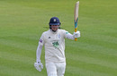 Sam Northeast acknowledges his hundred, Hampshire v Essex, County Championship Division One, Ageas Bowl, April 6, 2019