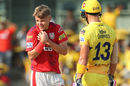 Sam Curran was hit flush on the shoulder by a Shane Watson forehand, Chennai Super Kings v Kings XI Punjab, IPL 2019, April 6, 2019