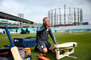 Alec Stewart feeds the bowling machine, Surrey v Durham MCCU, The Oval, April 6, 2019