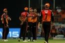 Bhuvneshwar Kumar reviews unsuccessfully to dismiss Rohit Sharma, Sunrisers Hyderabad v Mumbai Indians, IPL 2019, Hyderabad, April 6, 2019