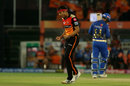 Siddarth Kaul roars after getting a wicket, Sunrisers Hyderabad v Mumbai Indians, IPL 2019, Hyderabad, April 6, 2019