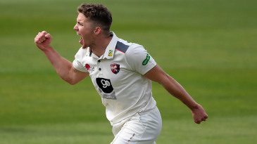Matt Milnes claimed his first wickets for Kent