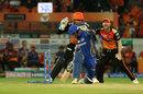Krunal Pandya checks if he's made his ground, Sunrisers Hyderabad v Mumbai Indians, IPL 2019, Hyderabad, April 6, 2019