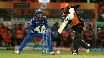 Manish Pandey drives down the ground