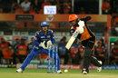 Manish Pandey drives down the ground, Sunrisers Hyderabad v Mumbai Indians, IPL 2019, Hyderabad, April 6, 2019