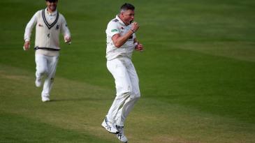 Mitch Claydon lets out a roar of celebration
