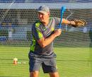 Fielding coach Grant Bradburn fires some throwdowns during a Pakistan training session, Sharjah, March 20, 2019