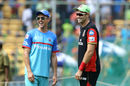 Friends, but in opposite camps: Tim Southee and Trent Boult, Royal Challengers Bangalore v Delhi Capitals, IPL 2019, April 7, 2019