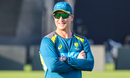 Assistant coach Brad Haddin surveys the scene during a training session, Sharjah, March 20, 2019
