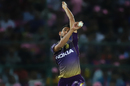 Prasidh Krishna prepares to deliver, Rajasthan Royals v Kolkata Knight Riders, IPL 2019, Jaipur, April 7, 2019