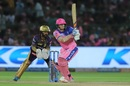 Steven Smith works the ball towards the leg side, Rajasthan Royals v Kolkata Knight Riders, IPL 2019, Jaipur, April 7, 2019