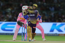 Sunil Narine pumps one into the leg side, Rajasthan Royals v Kolkata Knight Riders, IPL 2019, Jaipur, April 7, 2019