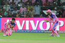 Rahul Tripathi puts one down, Rajasthan Royals v Kolkata Knight Riders, IPL 2019, Jaipur, April 7, 2019
