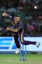Harry Gurney bowls, Rajasthan Royals v Kolkata Knight Riders, IPL 2019, Jaipur, April 7, 2019