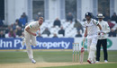 Stuart Broad bowls as Joe Root looks on, Notts v Yorkshire, County Championship Division One, Trent Bridge, April 8, 2019