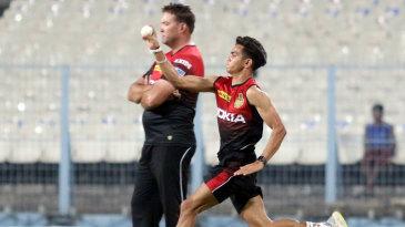 Kamlesh Nagarkoti during a practice session
