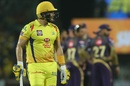 A disappointed Shane Watson walks back, Chennai Super Kings v Kolkata Knight Riders, IPL 2019, Chennai, April 9, 2019