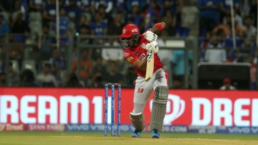 KL Rahul plays to the off side