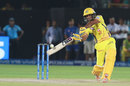 Ambati Rayudu steps out and carves one over mid-off, Rajasthan Royals v Chennai Super Kings, IPL 2019, Jaipur, April 11, 2019