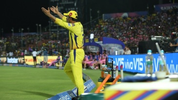 MS Dhoni is irate at a contentious no-ball call