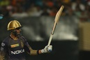 Shubman Gill celebrates his fifty, Kolkata Knight Riders v Delhi Capitals, IPL 2019, Kolkata, April 12, 2019