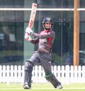 Rohan Mustafa drives over cover for a boundary, UAE v USA, 2nd T20I, Dubai, March 16, 2019