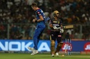 Chris Morris celebrates the wicket of Nitish Rana, Kolkata Knight Riders v Delhi Capitals, IPL 2019, Kolkata, April 12, 2019