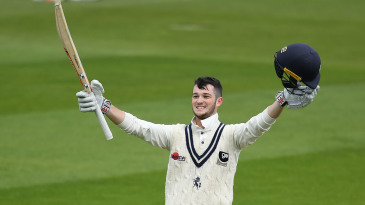 Ollie Robinson reached his maiden first-class ton