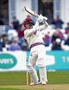 Tom Abell rides a cut shot, Nottinghamshire v Somerset, Trent Bridge, day 2, April 12, 2019