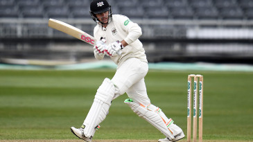 Gareth Roderick works the ball into the leg side